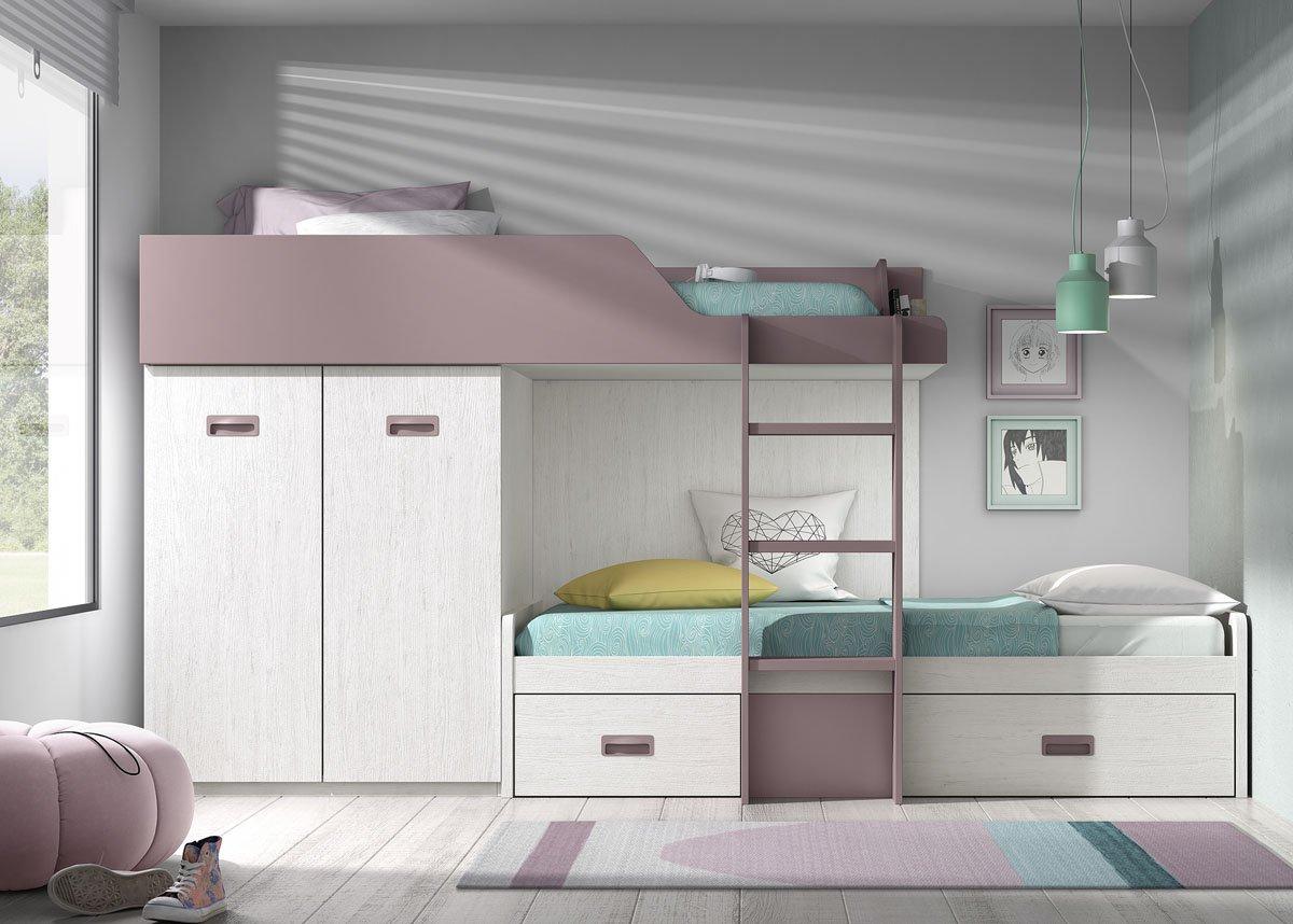 Dormitorio Juvenil Composicion B037 Tren Cama Litera derecha