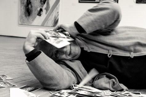 Francesco Tadini ritratto da Gianfranco Bellini, per la mostra fotografica Omaggio a Tadini, Milano 2018 -17