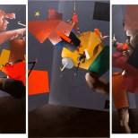 Il ballo dei filosofi esposizione origami