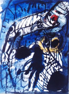 Spazio Tadini - Renzo Ferrari - Figura sospesa e gong '96