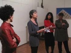 Anna Maria Prina, che diresse per più di 30 anni la scuola di Ballo del Teatro alla Scala legge a Spazio Tadini il messaggio del coreografo di Taiwan Lin Hwai-min, scritto per la Giornata Mondiale della danza
