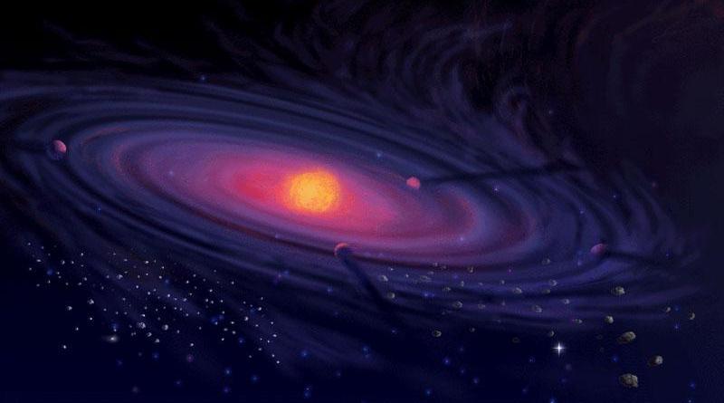 Rappresentazione artistica di un sistema planetario in formazione