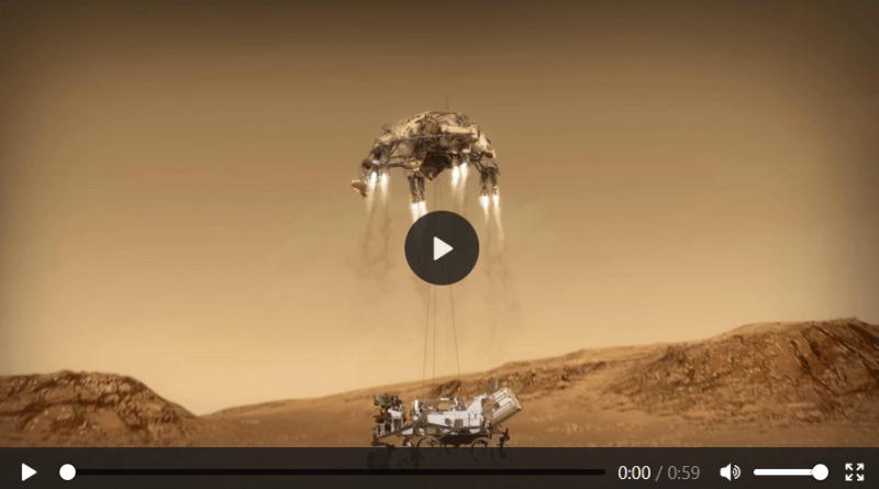 TRAILER animato della NASA dell'atterraggio di Perseverance su Marte