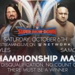 WWE SPOILER SMACKDOWN: Ufficiale la stipulazione del match tra AJ Styles e Samoa Joe