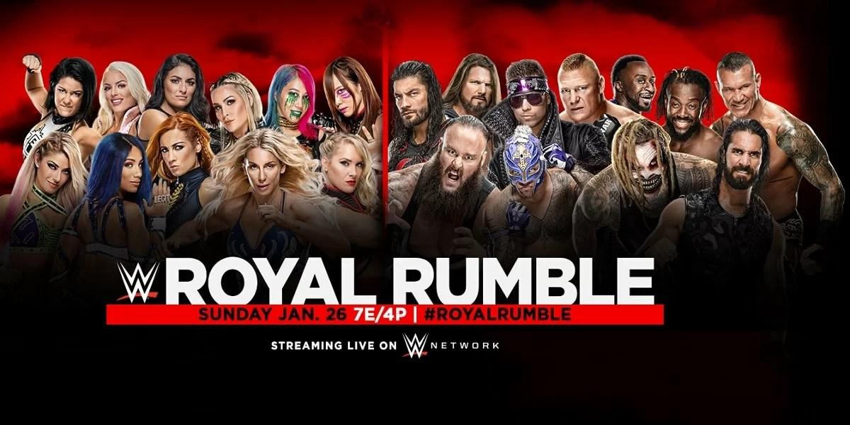 WWE: Card finale della Royal Rumble 2020