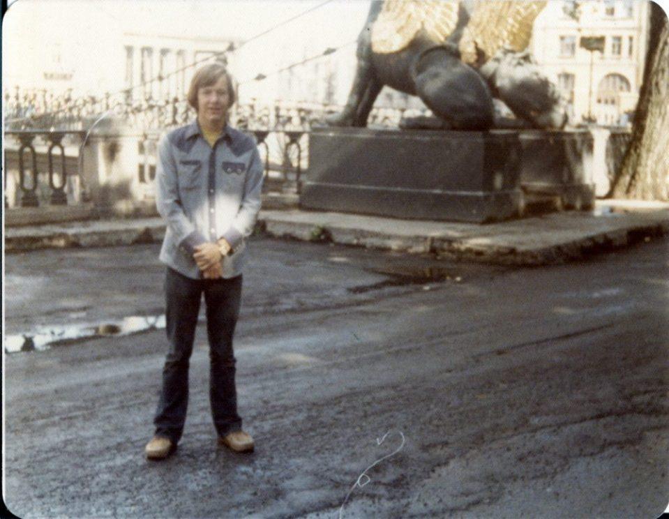 У египетского моста. 1976