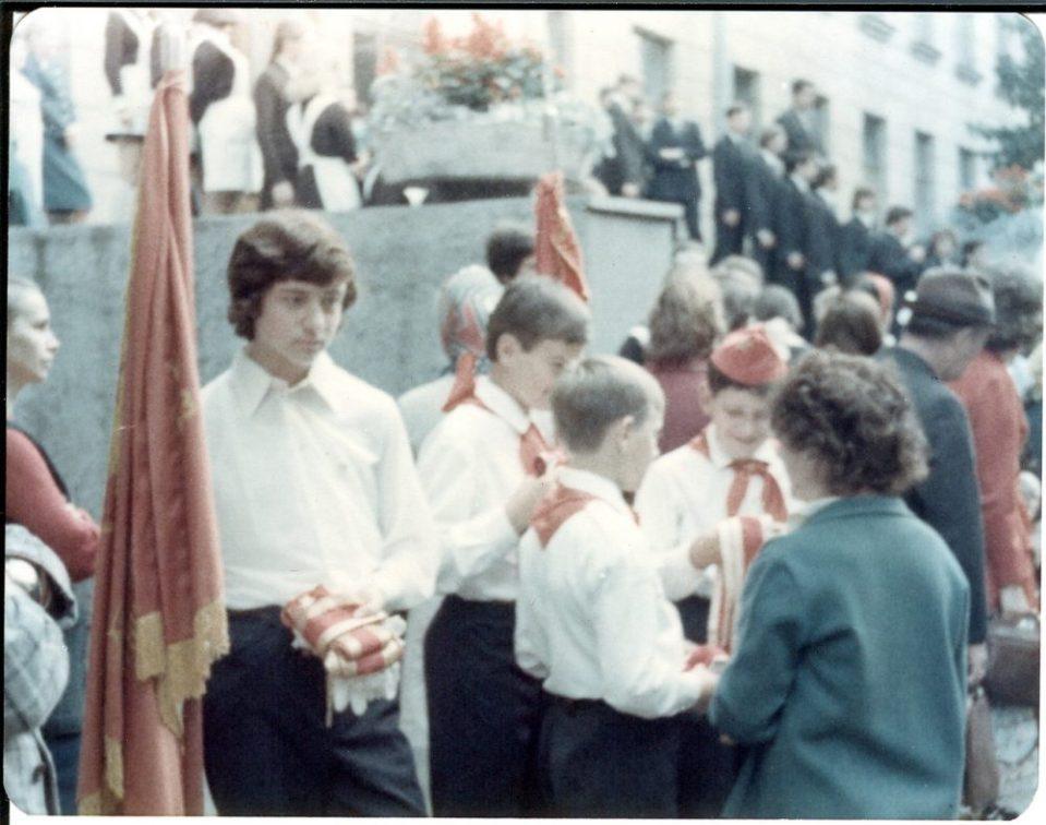 Первый школьный день. Гродненский переулок, сентябрь 1976