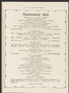 Graduation Ball program Australia