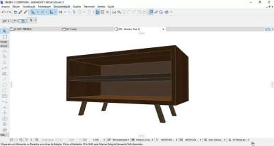 Estudo de Mobiliario no ArchiCAD / Fonte: Autor