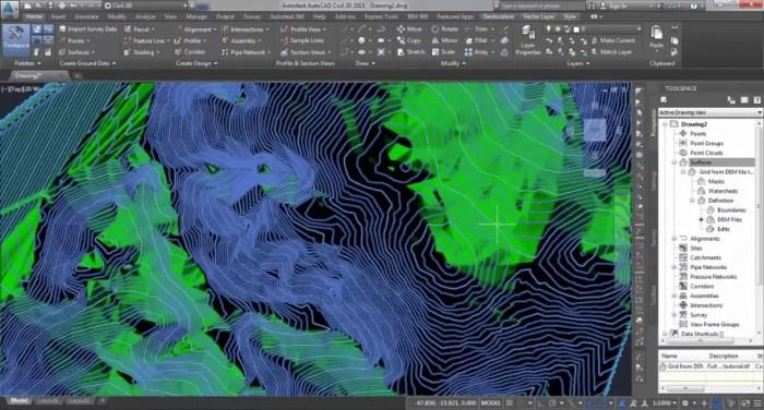Vídeo Gerar Modelo Digital do Terreno no AutoCAD Civil 3d ou MAP / Fonte: Youtube