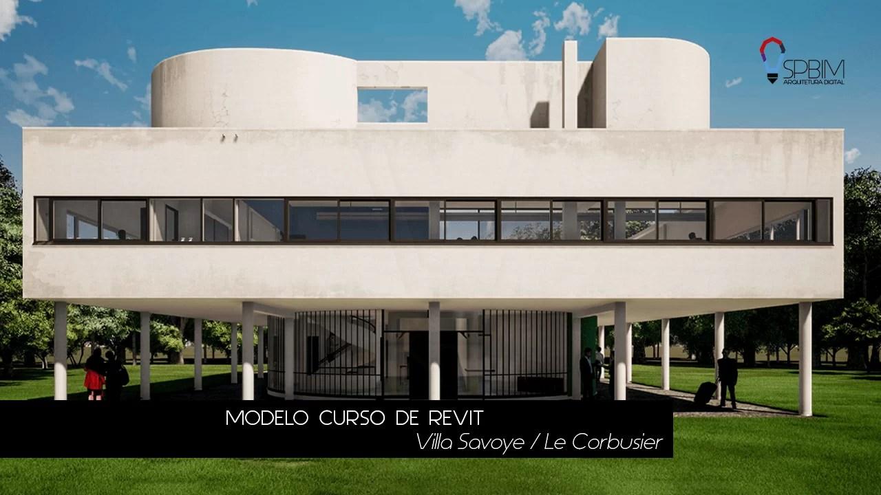 Villa Savoye Le Corbusier Curso de Twinmotion SpBIM