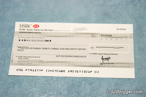 Bank Cheque International Certified Bank Cheque
