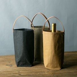 Washable Kraft Paper Wine Bag