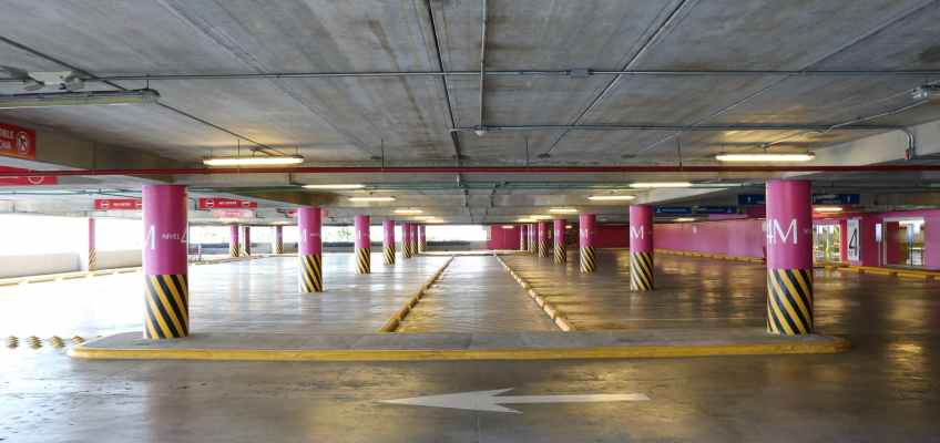 photography of parking lot