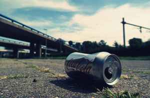 shallow focus photography of coca cola can