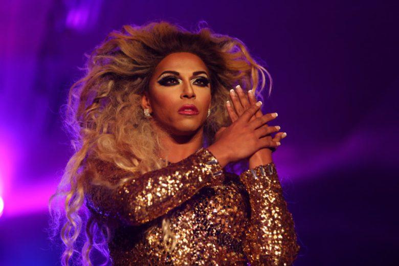Drag Queen Shangela em apresentação
