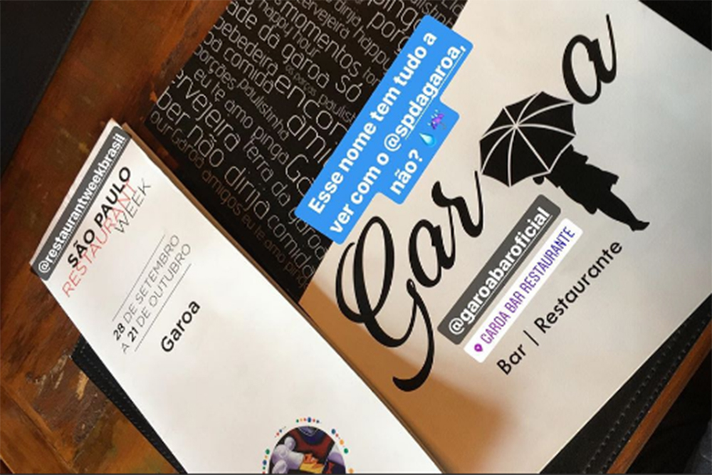 23ª edição da SP Restaurant Week - menu do Garoa e parceria com APAE