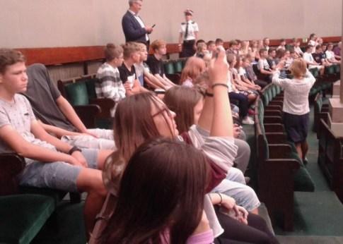 Uczniowie w Sejmie