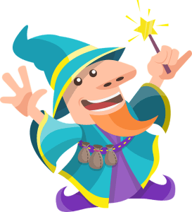 Magical Wizard with Magic Star Stick