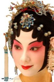 Asian Dancer with Face Make Up