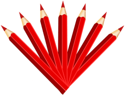 A Fan of Sharp Red Pencils Pointing Up