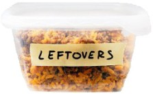 Plastic Container of Leftovers