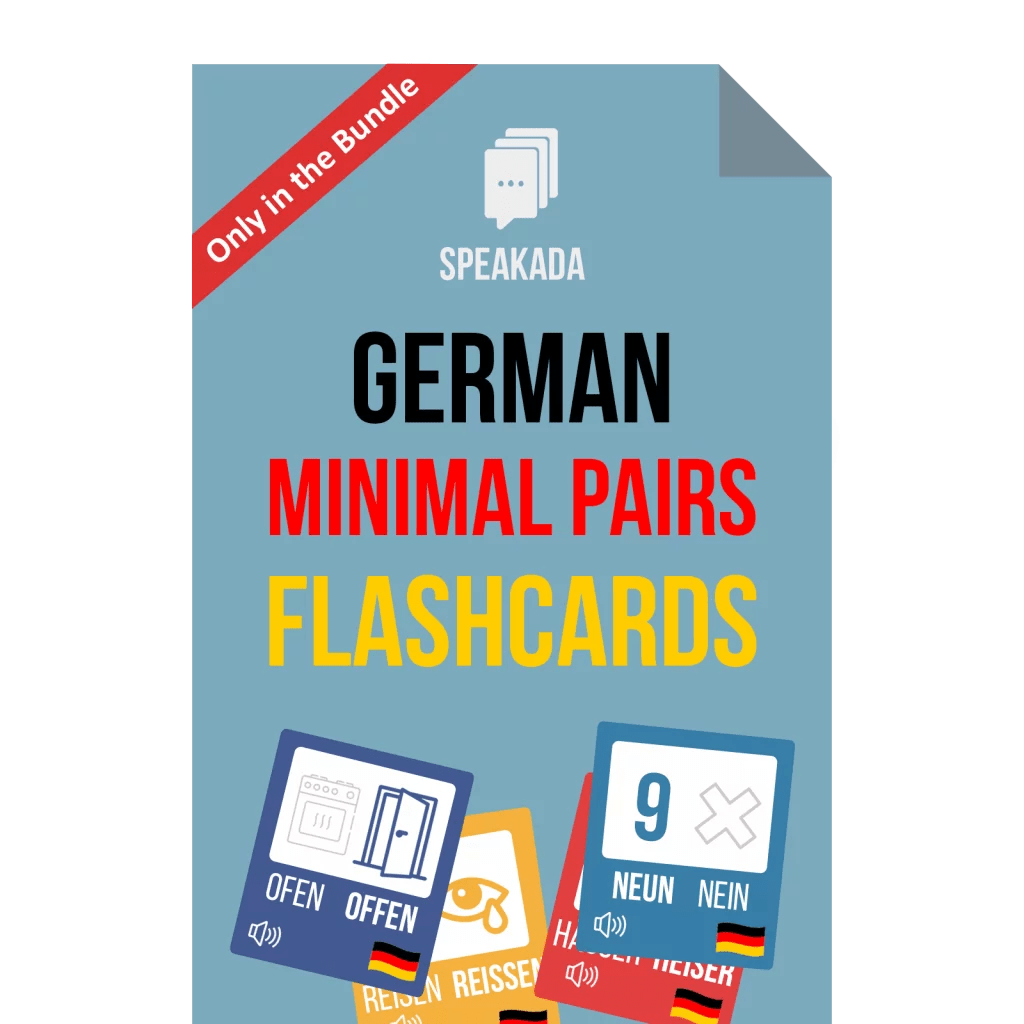 German Minimal Pairs Examples Anki Flashcards