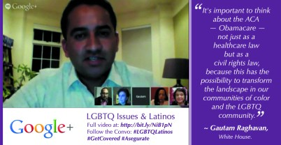Gautam Raghavan on benefits of ACA for LGBTQ Latinos