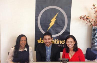 With Wilmer Valderrama and Maria Teresa Kumar at the 2014 Voto Latino Summit.