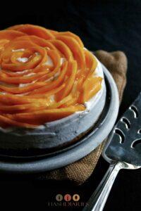 Mango Cake with Cardamom Cream dessert recipe
