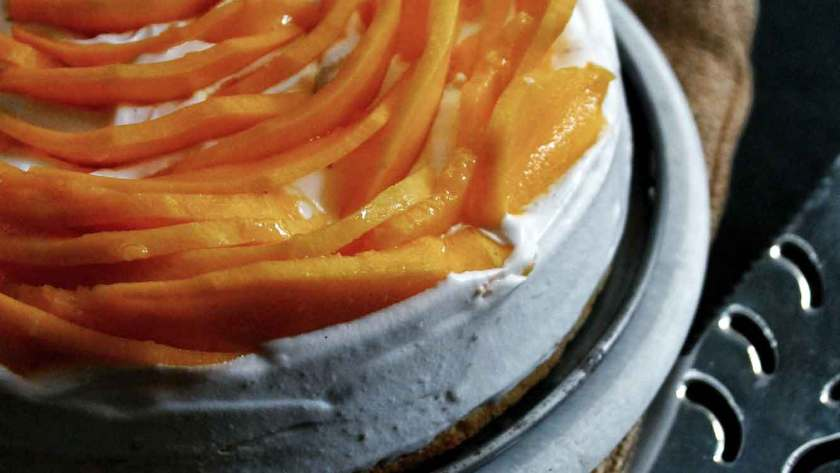 Mango Cake with Cardamom Cream dessert recipe