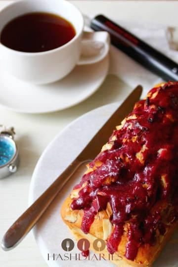 Healthy Nut Cake with SPRIG RedCha Hibiscus Glaze