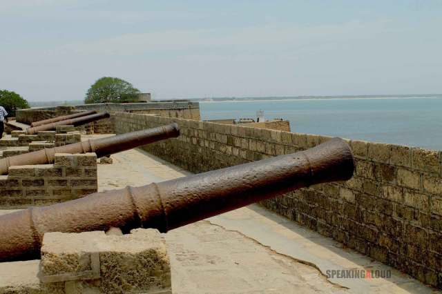 Diu Fort Canons Portuguese Colony in India