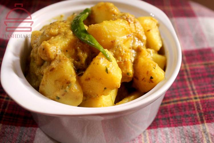 Yogurt Potato Masala recipe