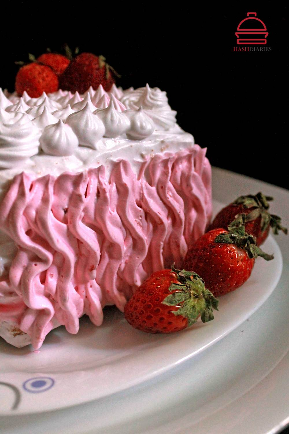 Strawberry Fruit Cream Cake Recipe