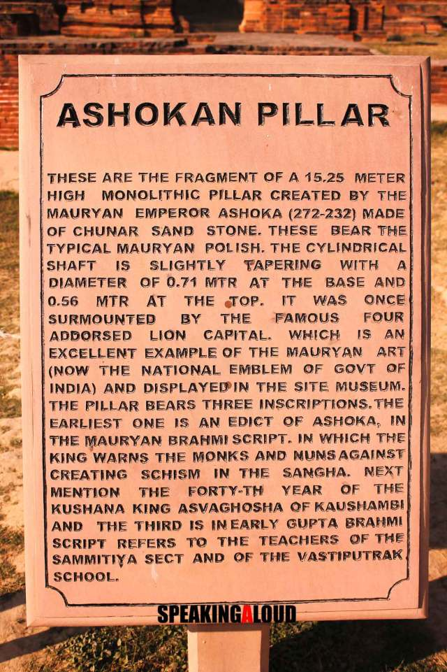 Ashoka Pillar Sarnath Archaeological Monuments in Uttar Pradesh