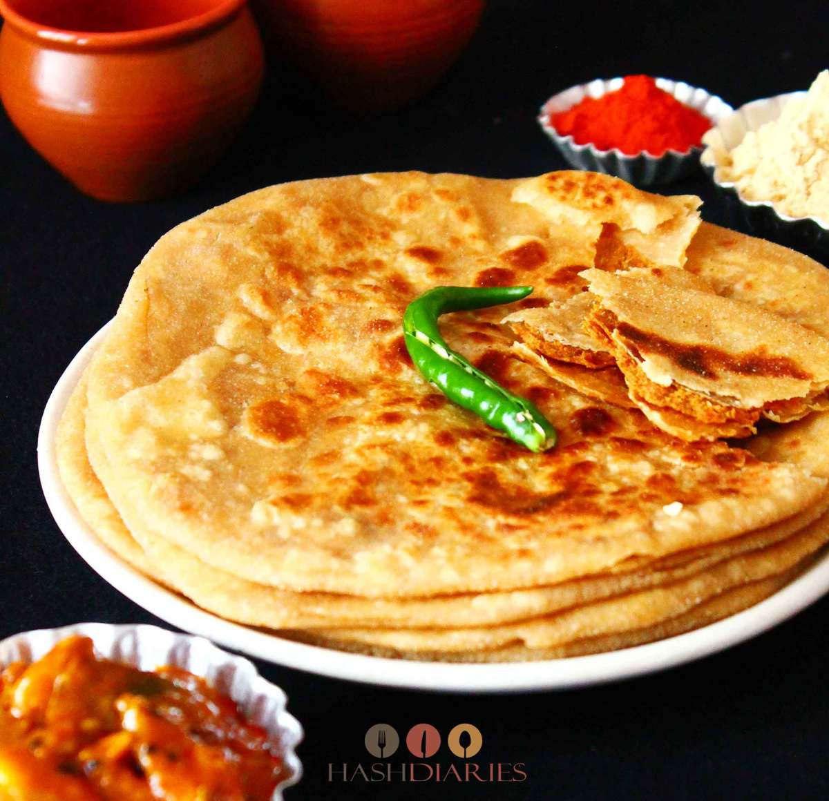 Chatur Porota or Sattu Paratha Recipe