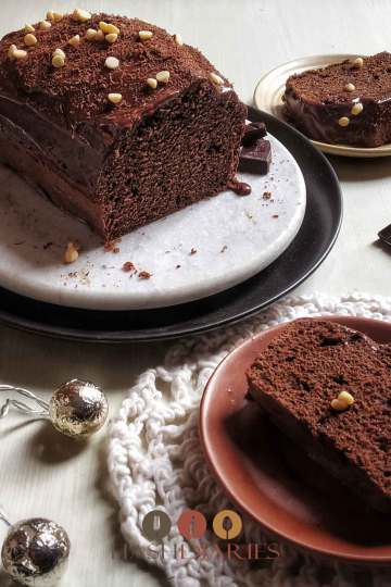 Devils Food cake Recipe Dark Chocolate loaf cake