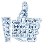 Word Cloud Life Motivation