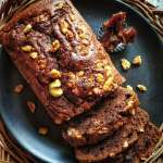 Date Walnut Chocolate Cake