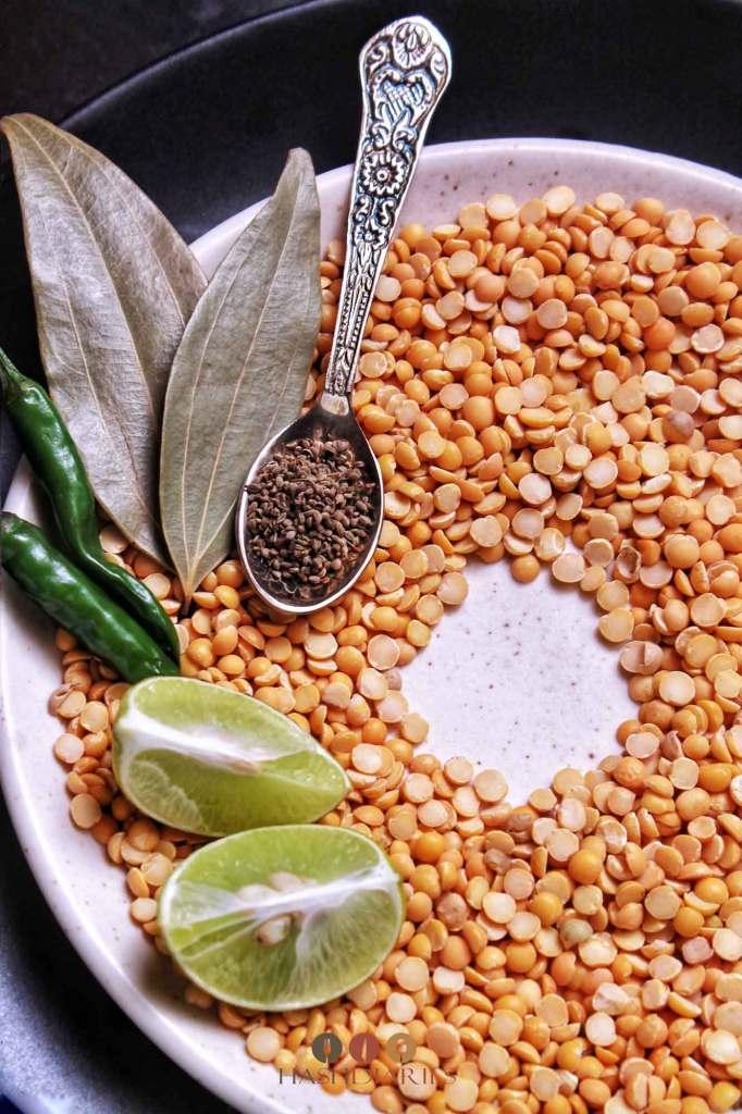 Motor Dal Recipe - Bengali Split Pea Dal Recipe
