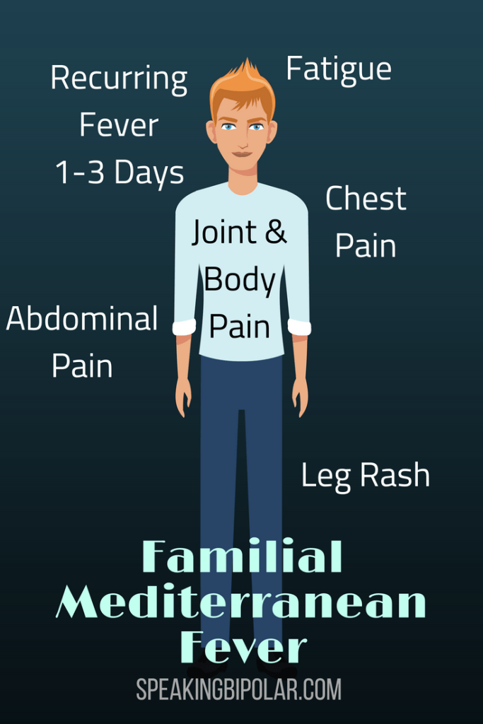 What is Familial Mediterranean Fever (FMF)? FMF is an auto-inflammatory disease that causes pain, especially in the abdomen, and periodic fevers. Learn more about the condition from a patient living with it. | #FMF #FamilialMediterraneanFever #PatientStory #SpeakingBipolar