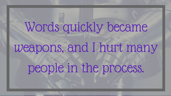 Quote: Words quickly became weapons, and I hurt many people in the process. From Post: 12 Signals That Point to Bipolar Disorder