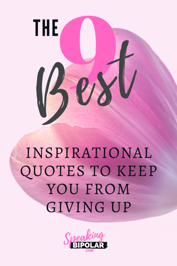 The 9 Best Inspirational Quotes to Keep You From Giving Up. Often the hardest thing is to keep going, especially when everything seems to be stacked against you. Read why one blogger hasn't given up on the dream of making his blog successful. | #inspiration #motivation #quotes