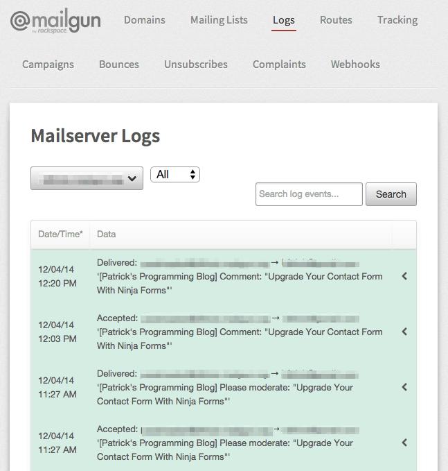 Mailgun Logs