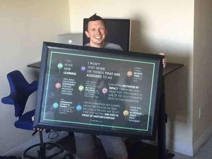 Automattic Creed Poster in my hands