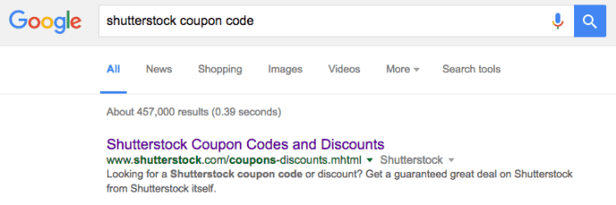 Shutterstock Coupon Code Search