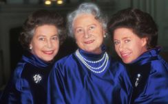 The Queen Mother with daughters, QEII and Princess Margaret