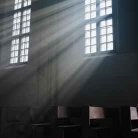 sunrays through a window
