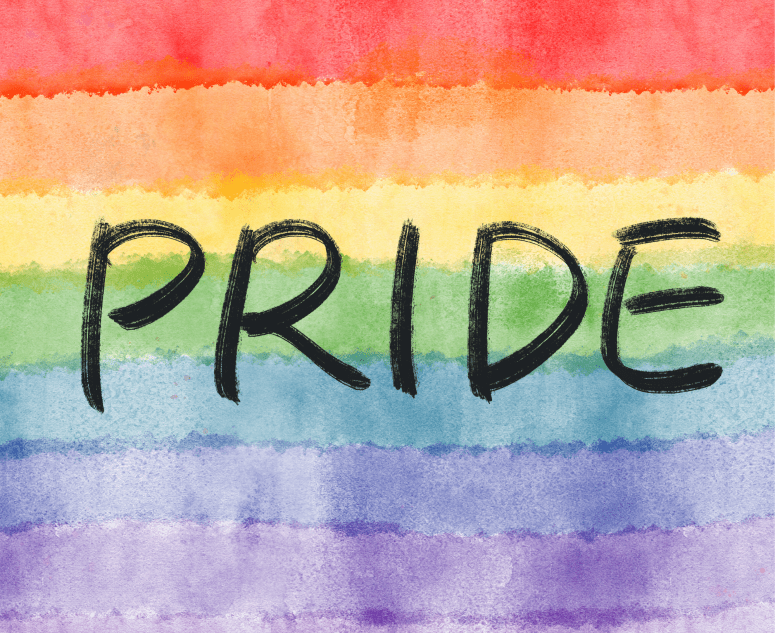 pride concept on watercolor texture background